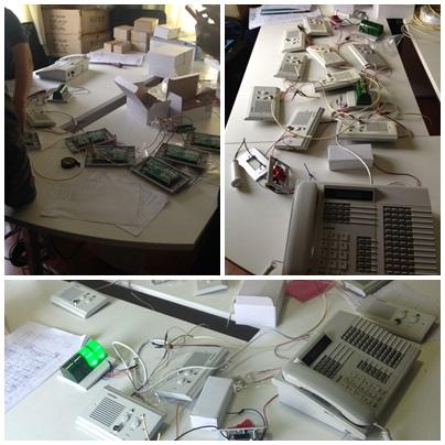 ทดสอบ อุปกรณ์ระบบเรียกพยาบาล ยี่ห้อ commax ก่อนส่งลูกค้า